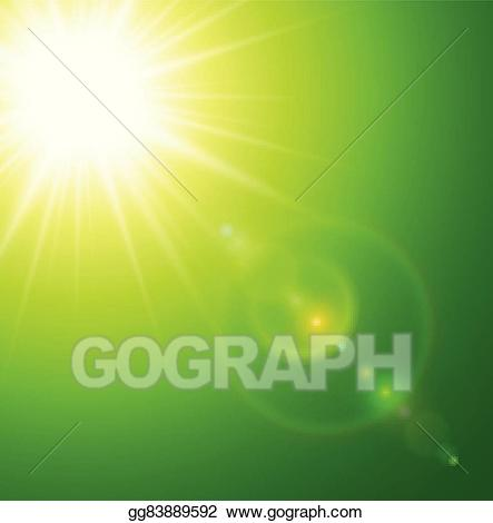 Vector art background eps. Sunny clipart green