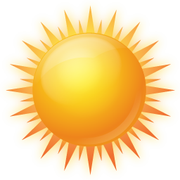 Sunny clipart icon. Bright day png image