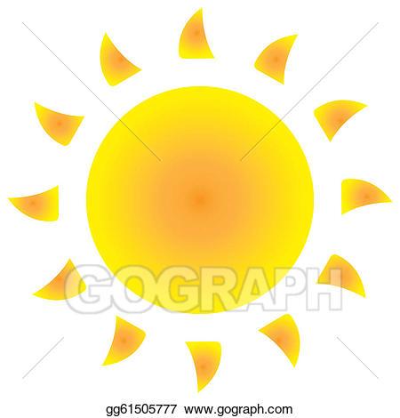 Sunny clipart icon. Vector art eps gg