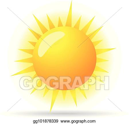 Eps illustration color forecast. Sunny clipart icon