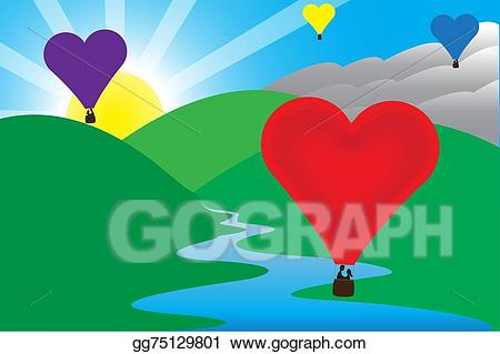 Sunny clipart love. Vector illustration morning air