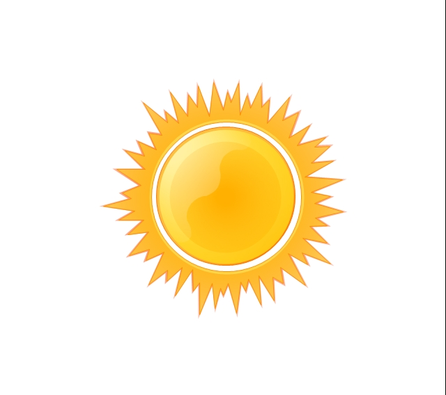 Sunny clipart object. Graphics for clip art