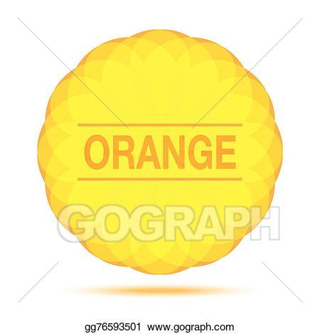 Sunny clipart orange. Eps illustration circular logo