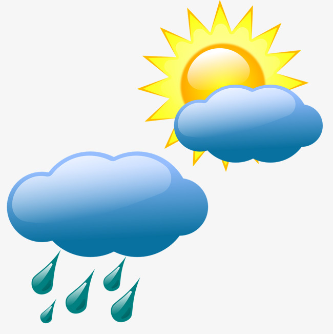 Sunny clipart rainy weather. Pictures of free download