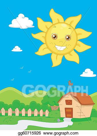 Sunny clipart scene sunny. Eps illustration vector gg