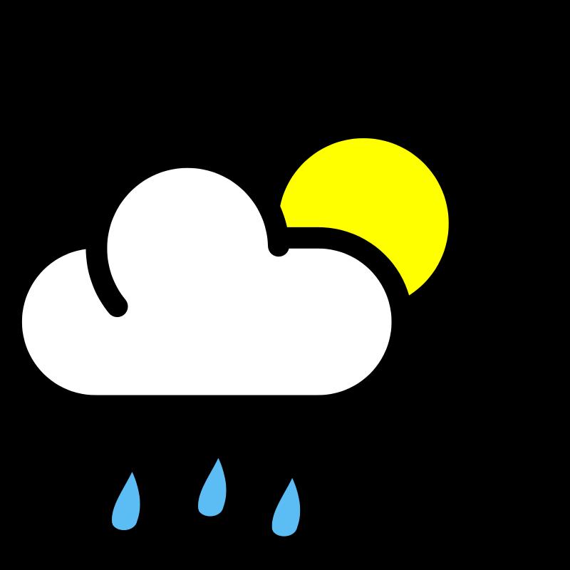 collection of rain. Sunny clipart scene sunny
