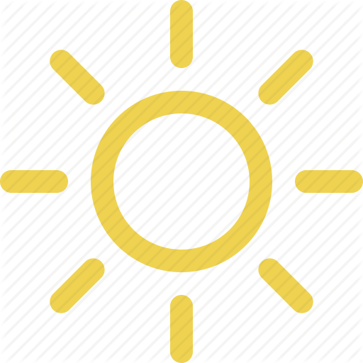 Sunny clipart simple. Weather icon free icons