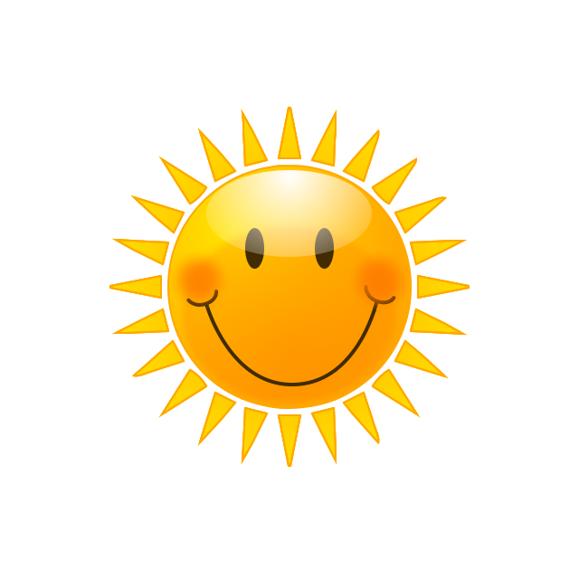 Sunny clipart smiley. The weather guy beautiful