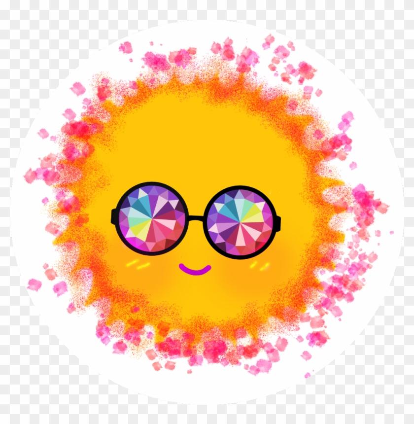 Sunny clipart sun smile. Sticker happy ftesun circle