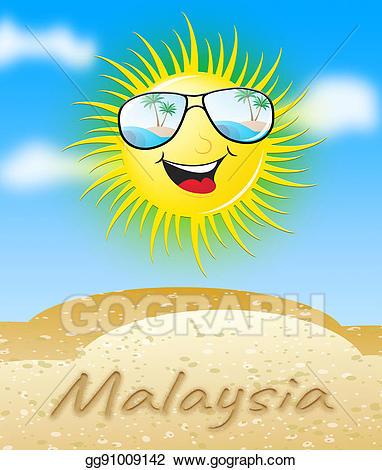 Sunny clipart sun smile. Stock illustration malaysia smiling