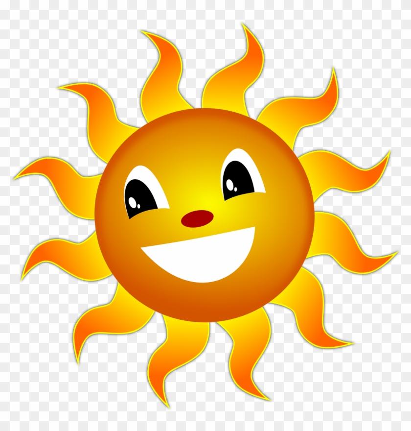 The a summer happy. Sunny clipart sun smile