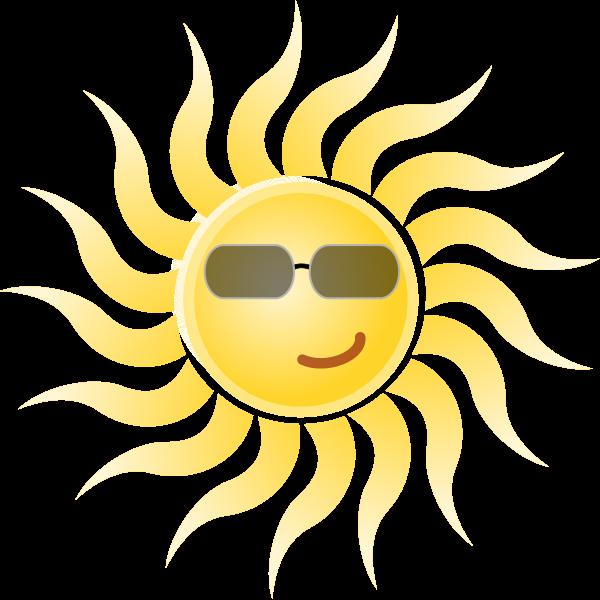 File wearing sunglasses svg. Sunny clipart sun smile