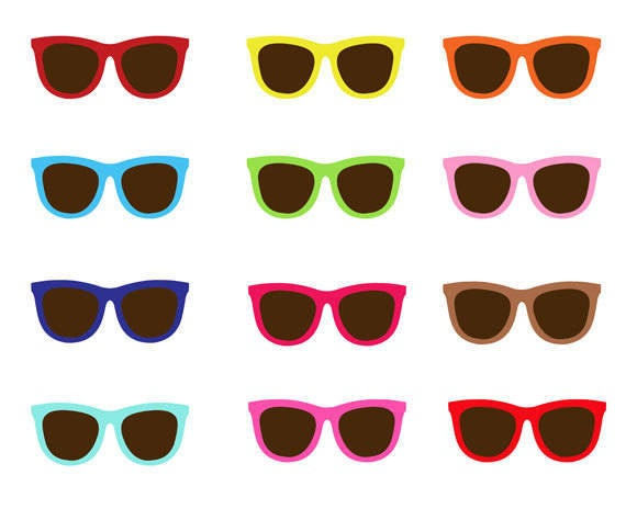 Sunglasses clip art collection. Sunny clipart sunglass