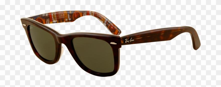 Wayfarer template ray ban. Sunny clipart sunglasses rayban