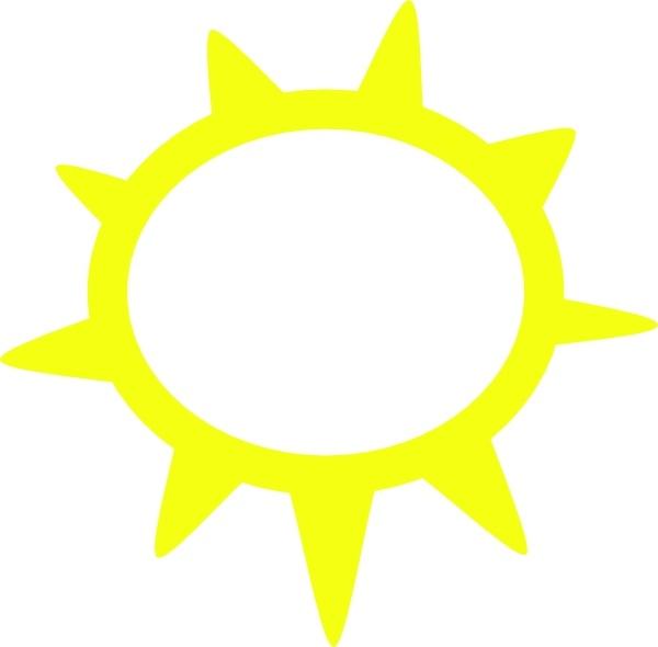 Weather symbols clip art. Sunny clipart symbol