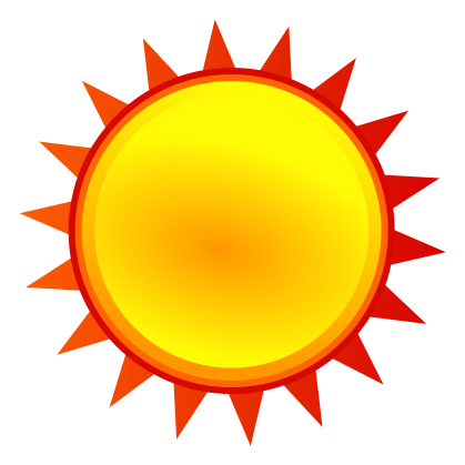 Free weather picture download. Sunny clipart symbol