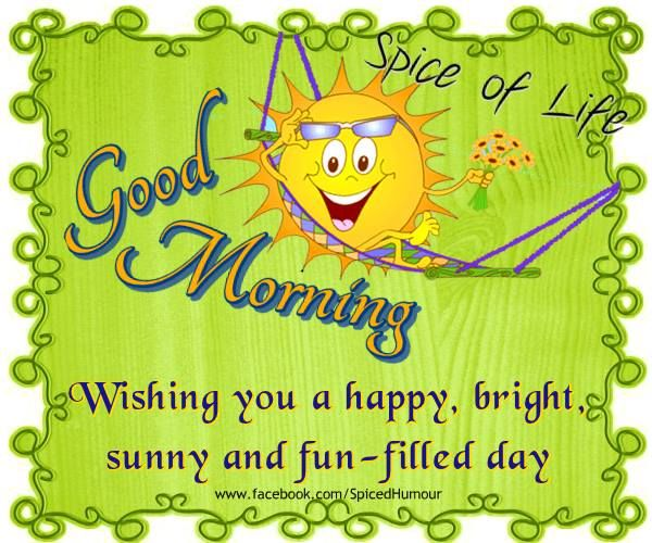 Wishing you a happy. Sunny clipart thought day