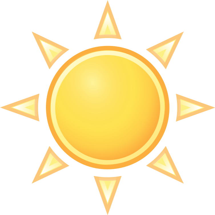 Learning about life cold. Sunny clipart weather nice