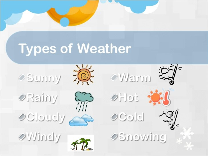 Sunny clipart weather philippine. Kinds of in the
