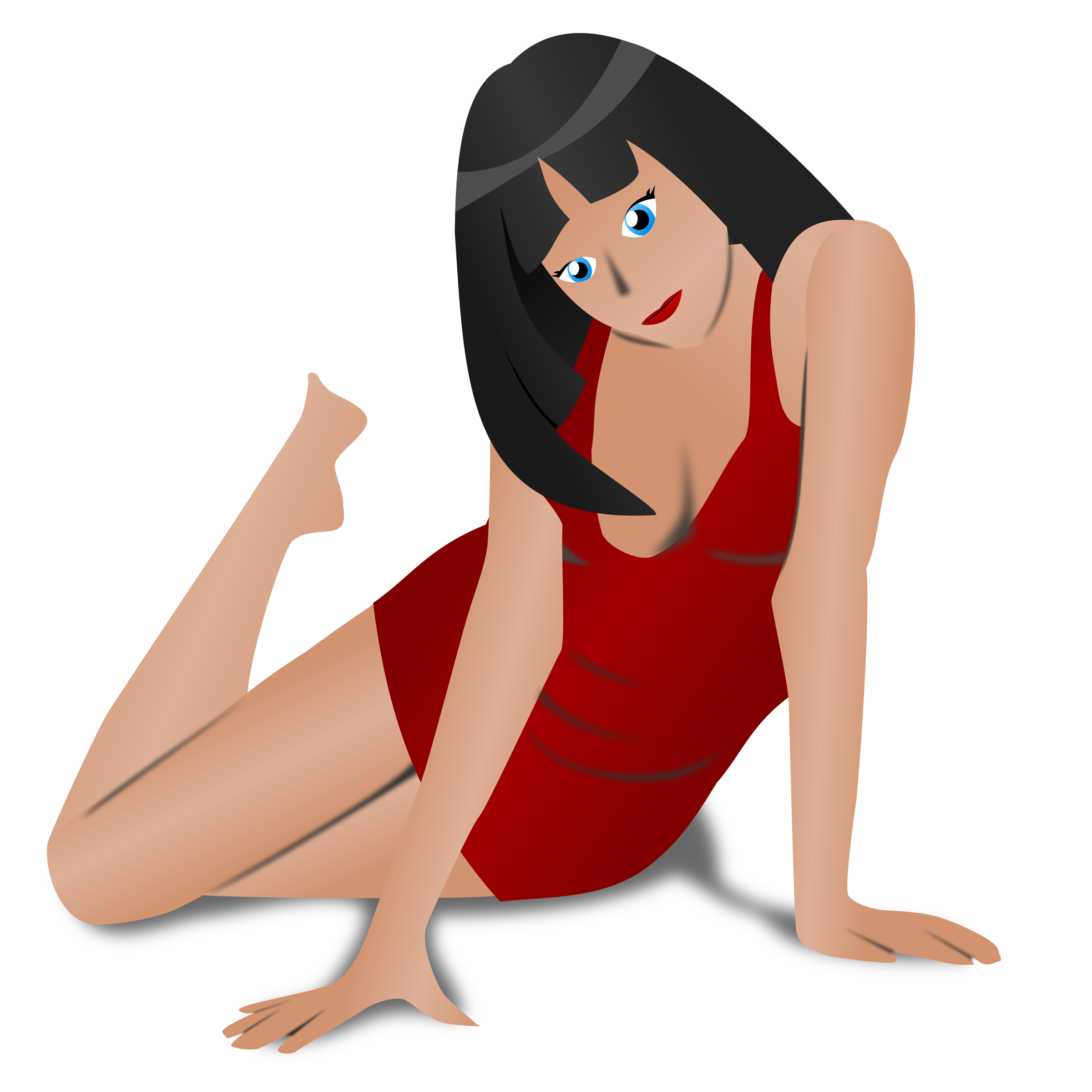 Sunny clipart woman. Free photo lady in