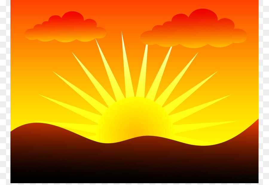Sunrise clip art cliparts. Sunset clipart