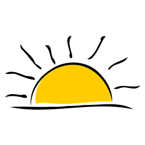 Sunset clipart. Free