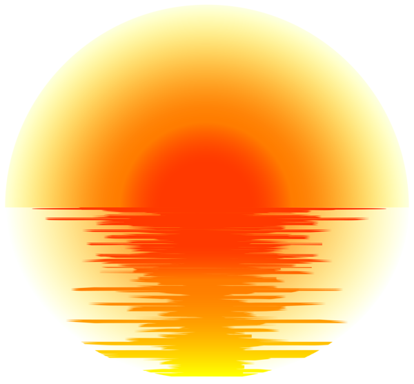 Effect png transparent clip. Sunset clipart