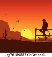 Clip art royalty free. Sunset clipart cowboy sunset