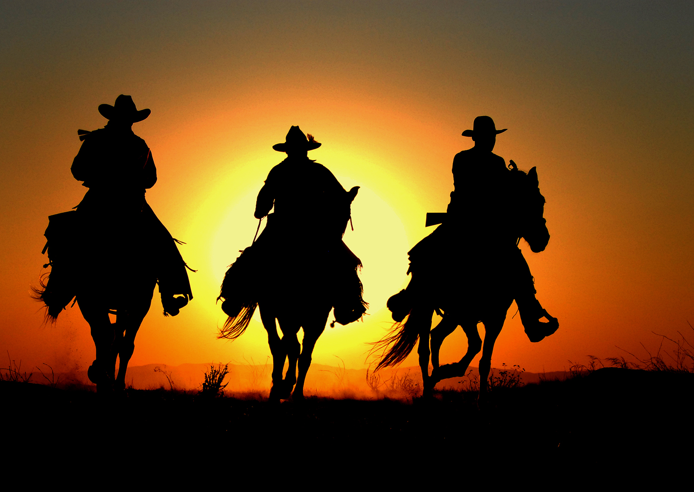 Portal . Sunset clipart cowboy sunset