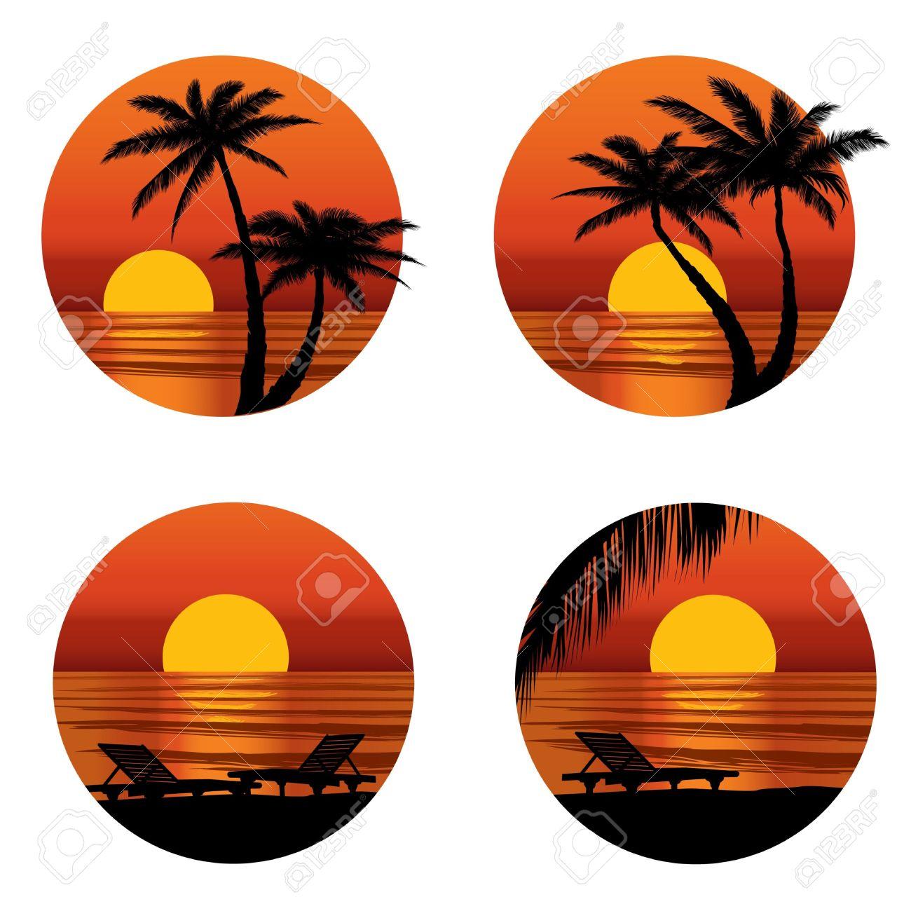 Beach free download best. Sunset clipart evening sunset
