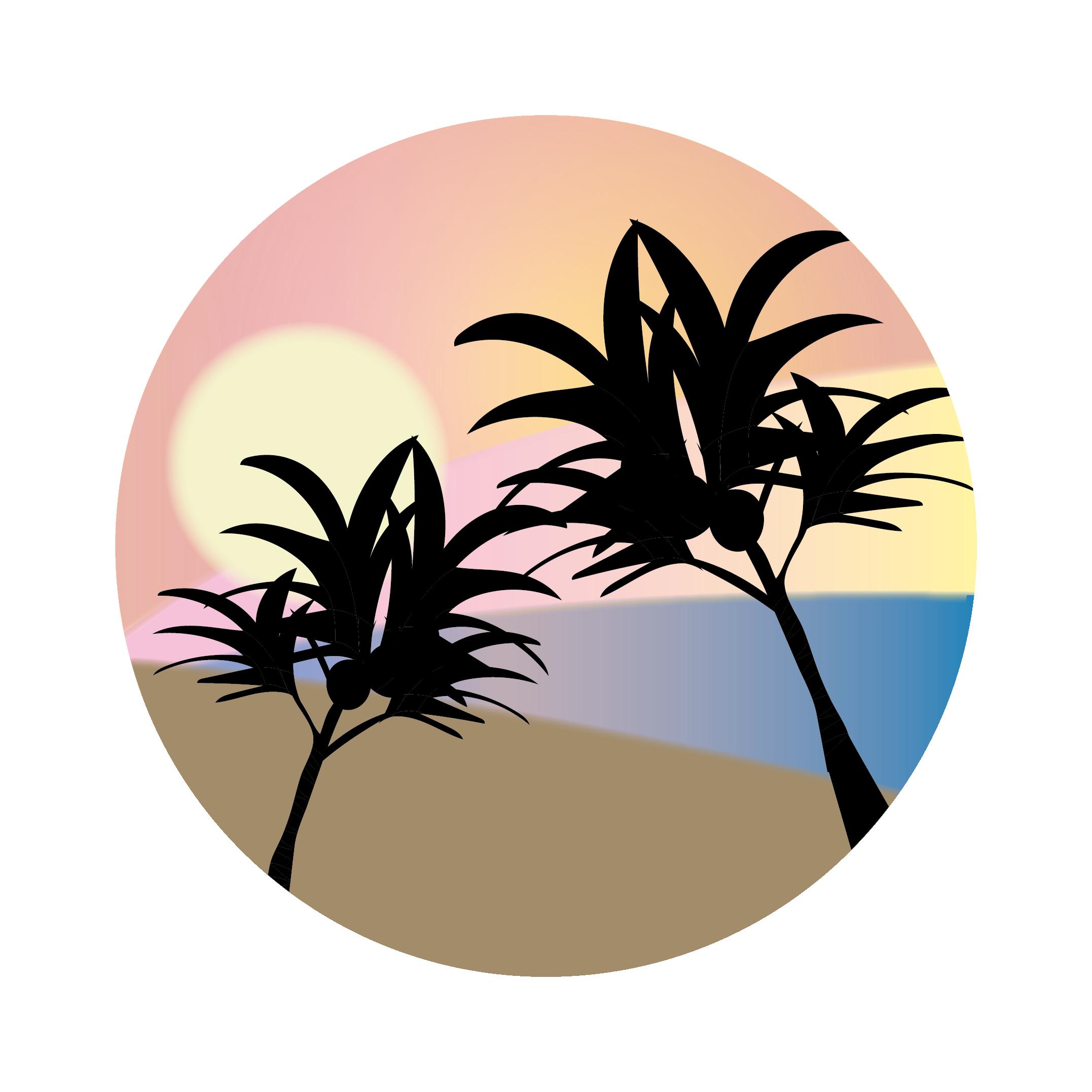 Sunset clipart hawaiian sunset. Silhouette transprent png free