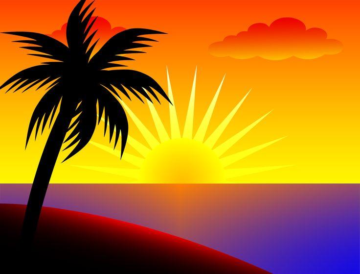 Sunset clipart hawaiian sunset. Clip art images illustrations