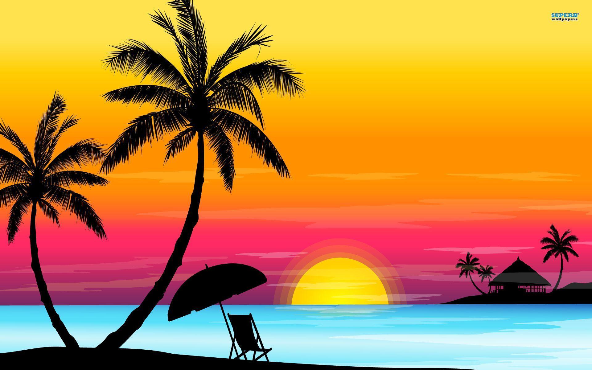 tropical wallpapers download. Sunset clipart hawaiian sunset