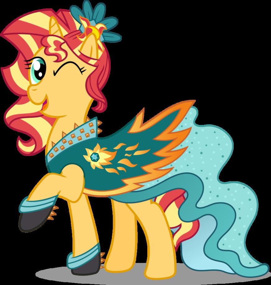 Pony crystal gala shimmer. Sunset clipart hi res