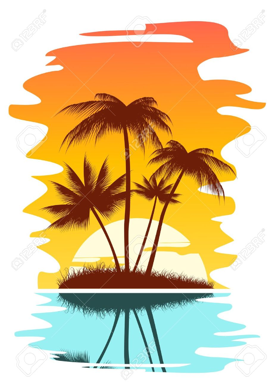 Beach free download best. Sunset clipart island caribbean
