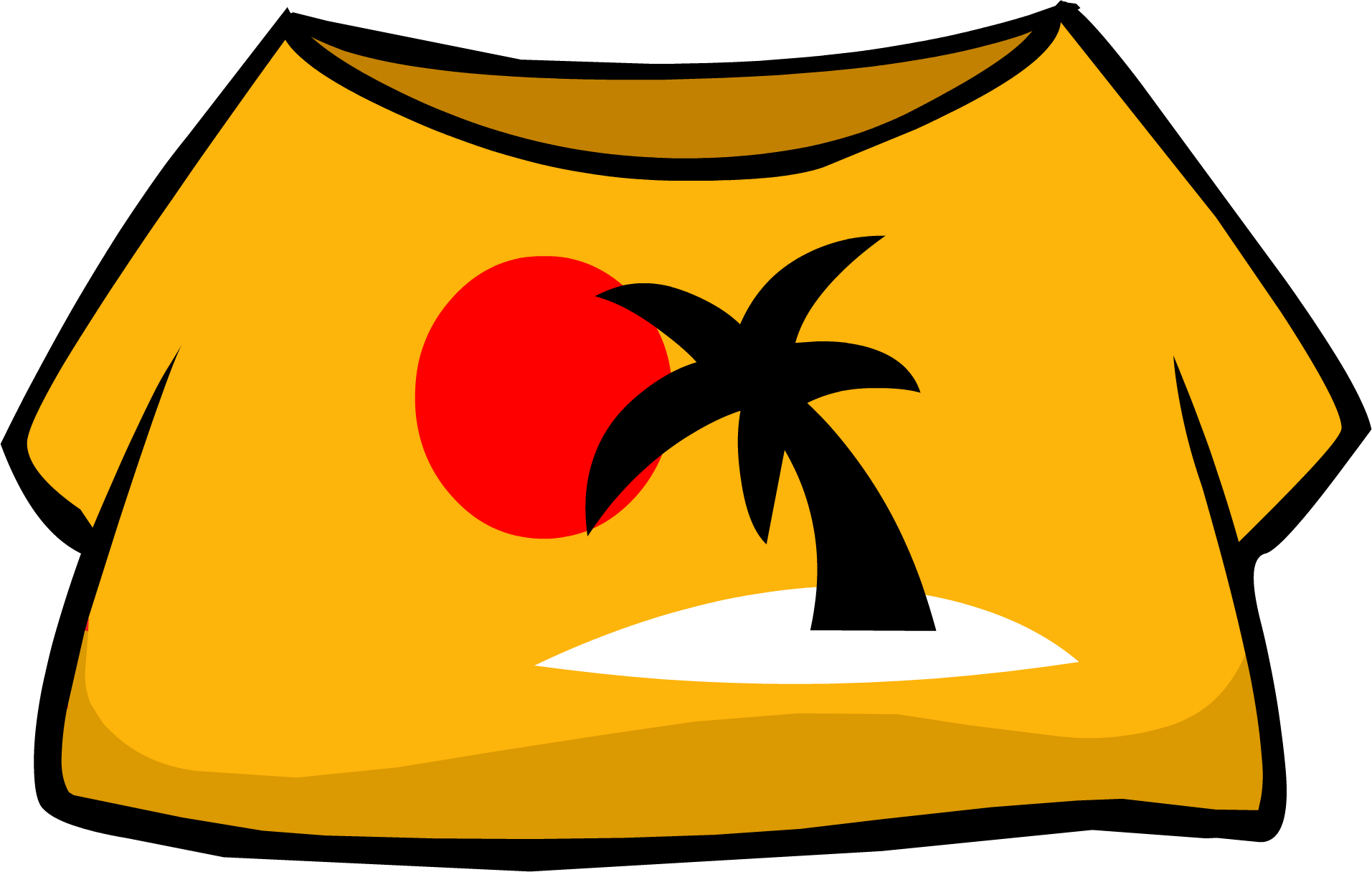 T shirt club penguin. Sunset clipart island caribbean