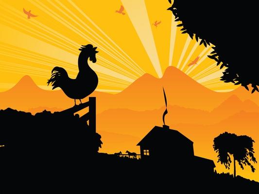 Sunset clipart morning sunrise. X free clip art