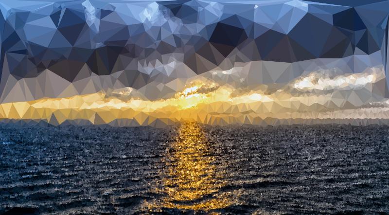sunset clipart ocean sunset