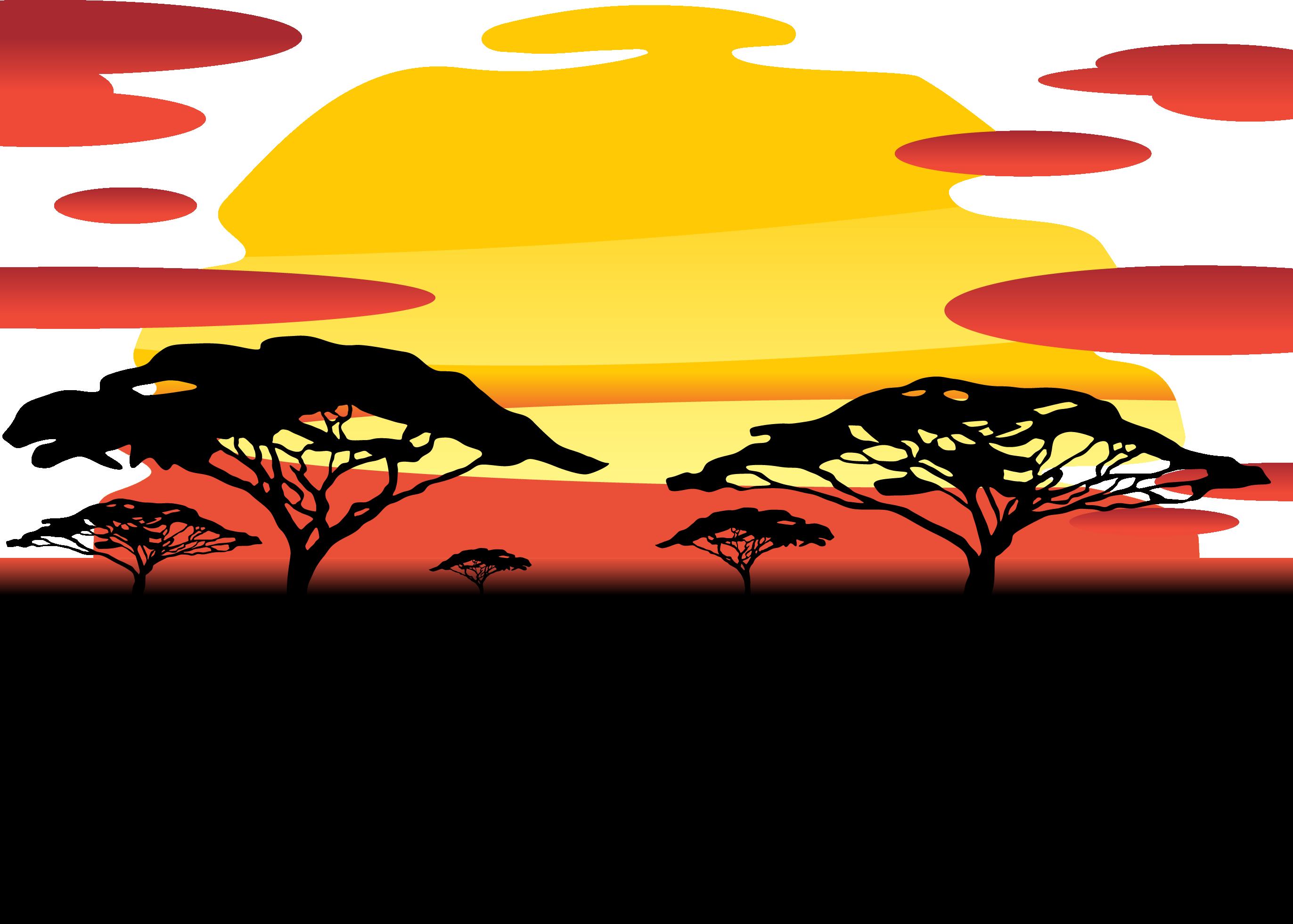 sunset clipart orange sunset