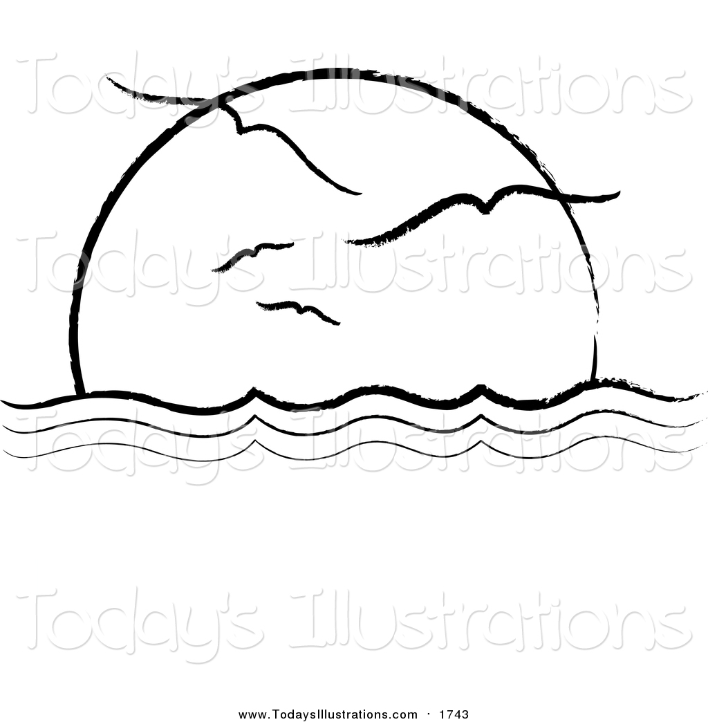 Horizon free download best. Sunset clipart outline