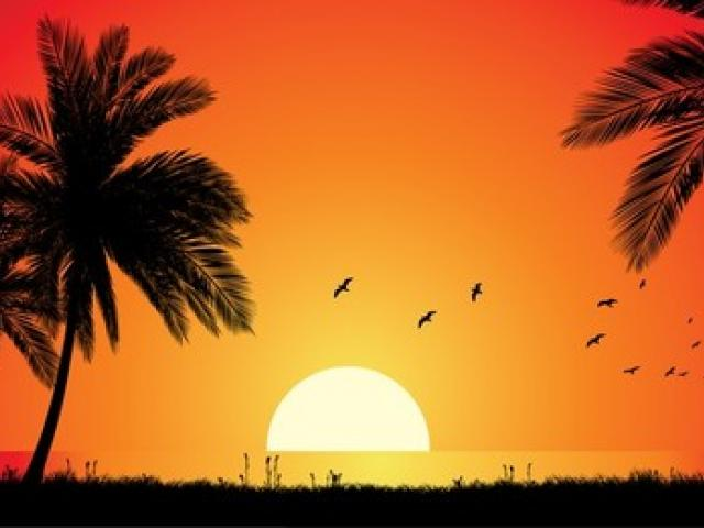 Free download clip art. Sunset clipart playa
