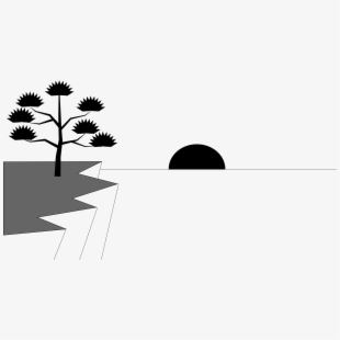 Water black and white. Sunset clipart sun set