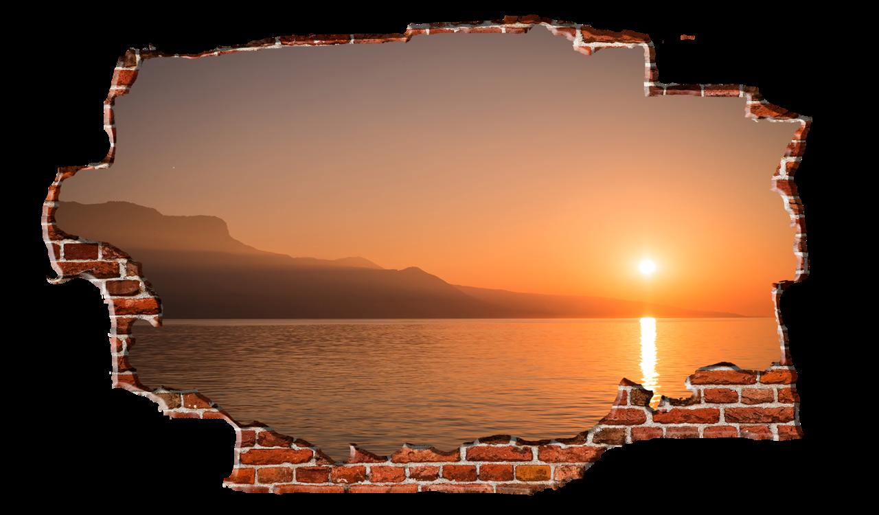 Sunset clipart sunrise over. Bright orange coast breaking