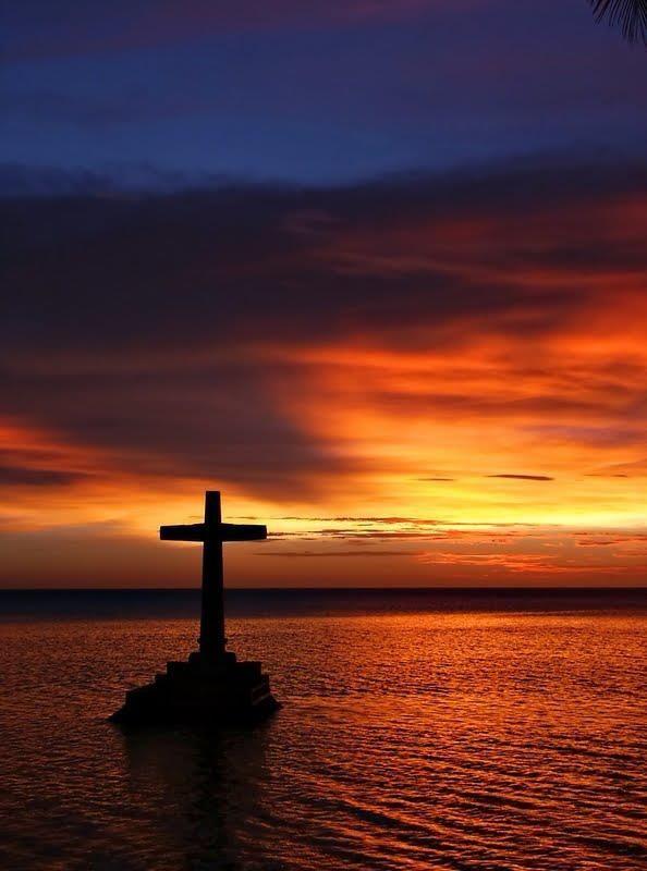 Cross x free clip. Sunset clipart sunrise over