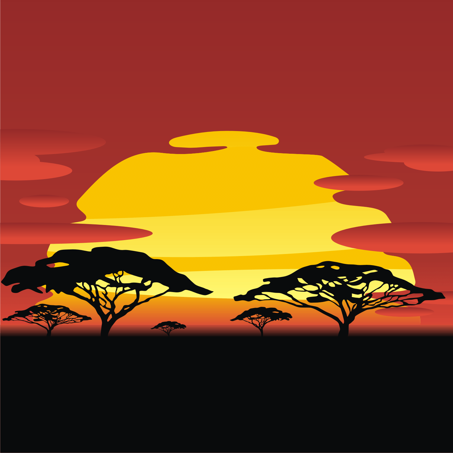 African cliparts zone . Sunset clipart sunset africa