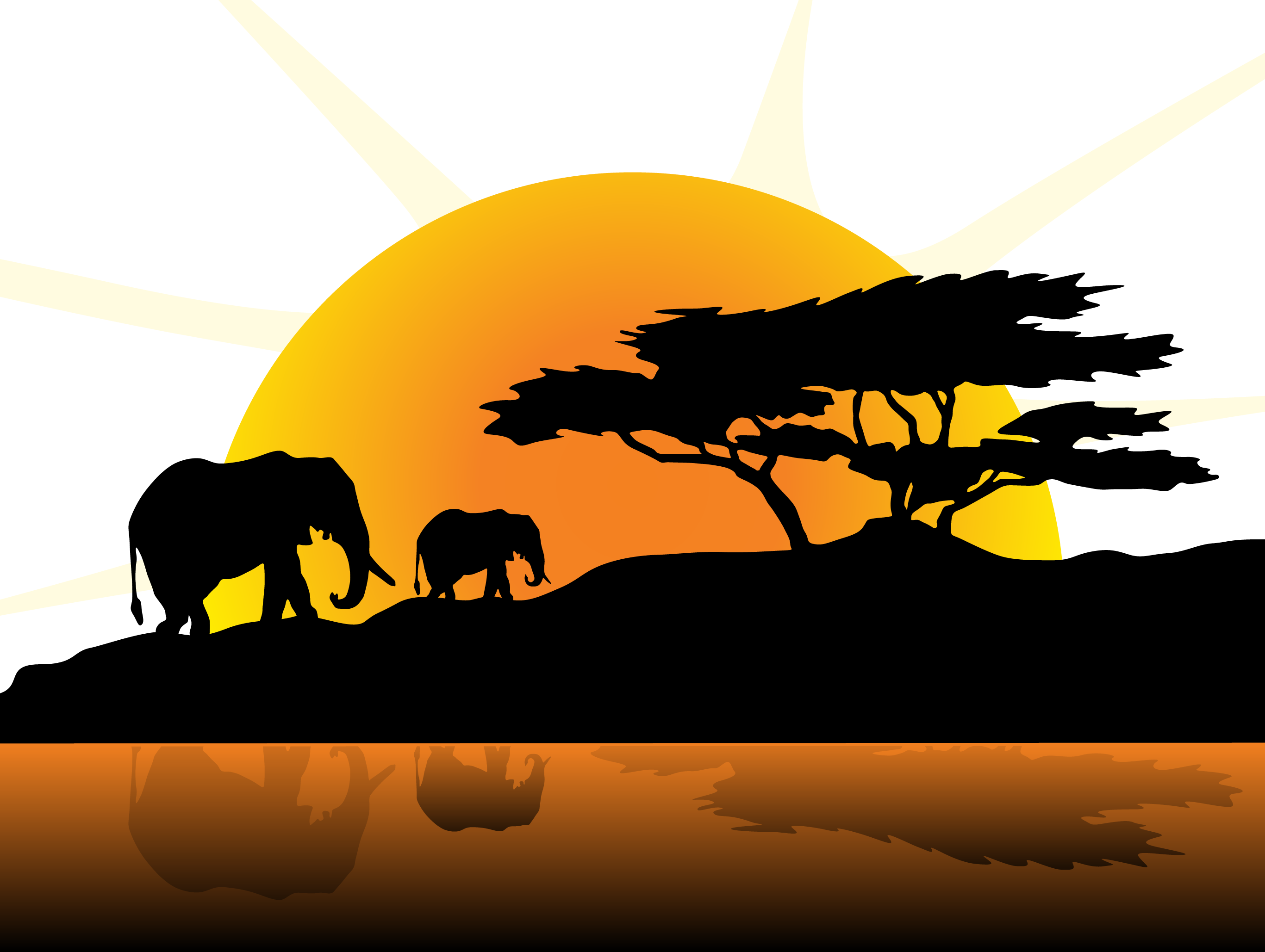 Sunset clipart sunset africa. Field vector png download