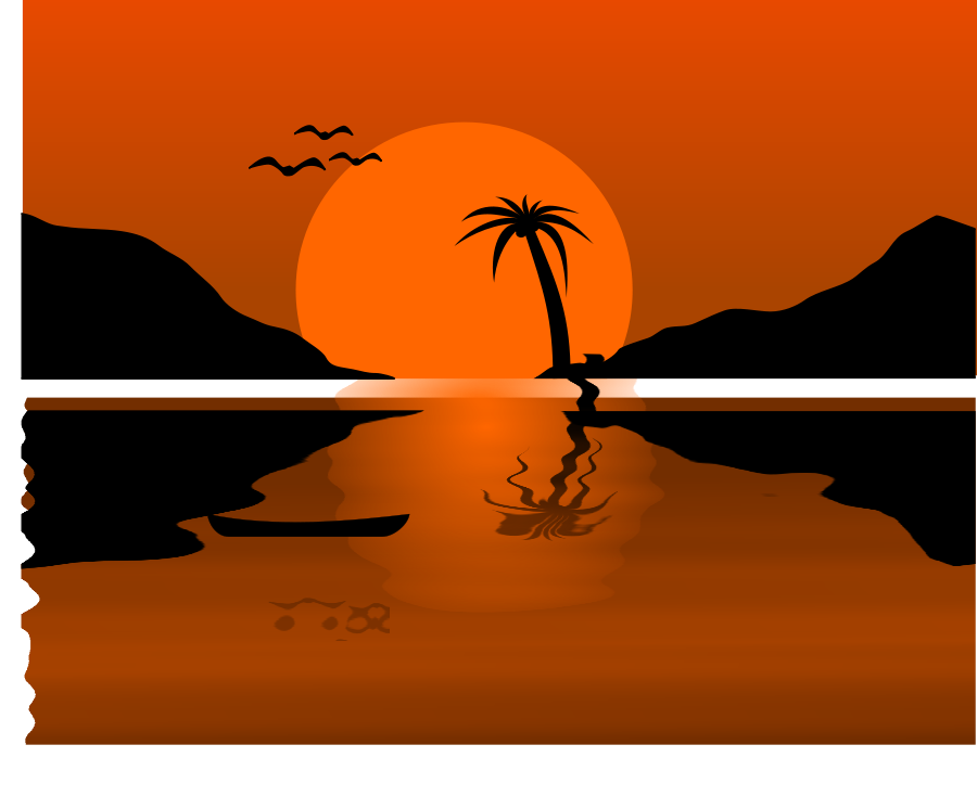 Sunset clipart sunset landscape. Sky background transparent