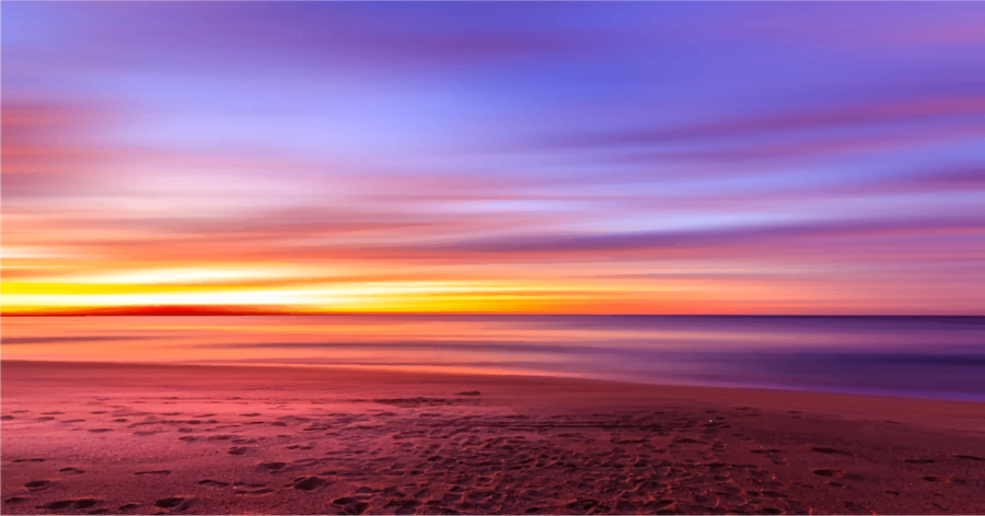 Sun cartoon beach transparent. Sunset clipart sunset sky