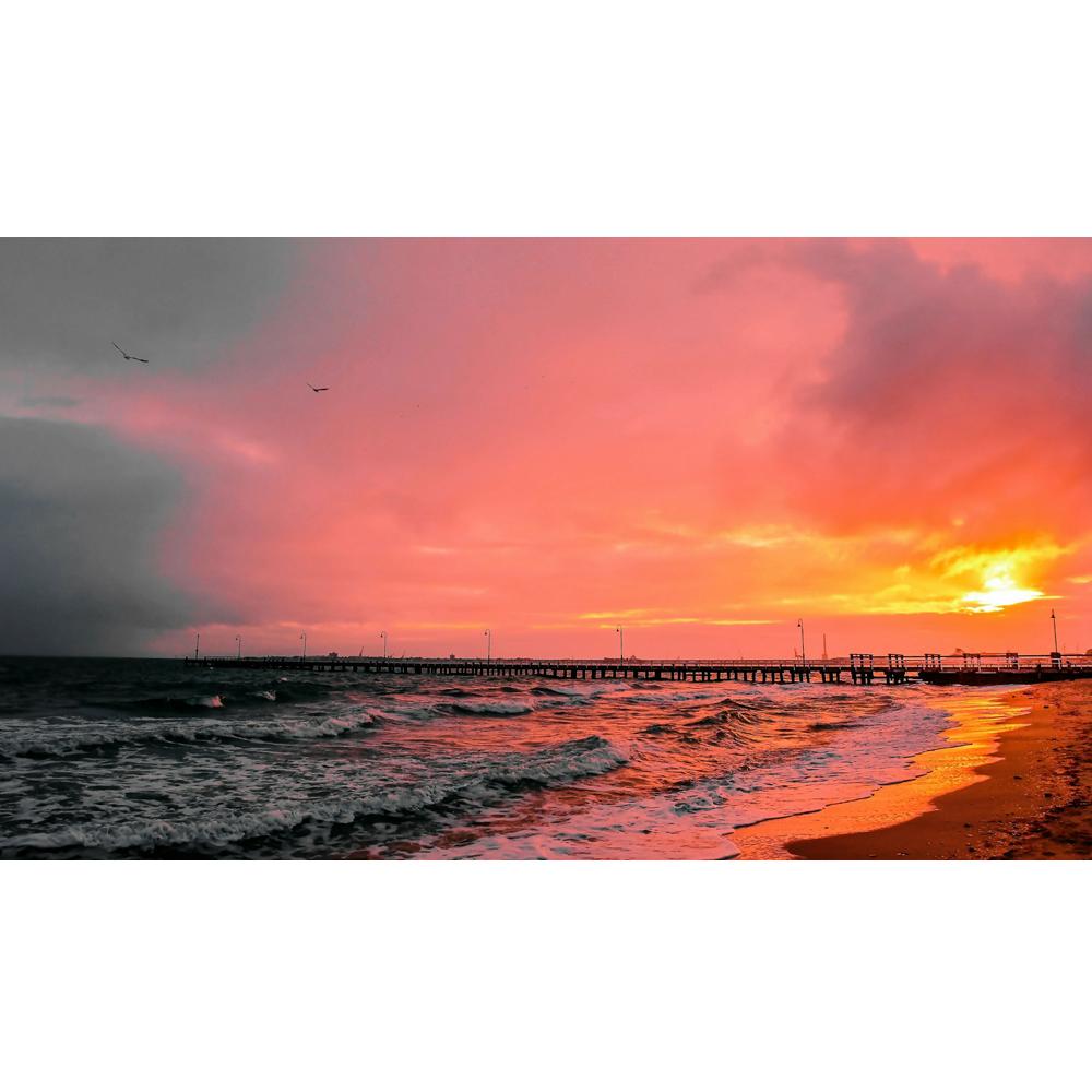 Sunset clipart sunset wallpaper. Red pier k www