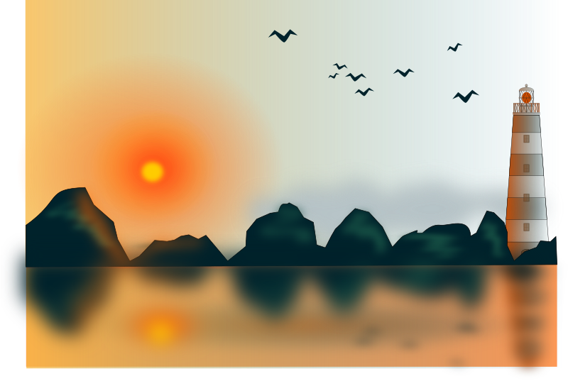 Water clipart sunset. Medium image png